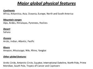 Yr 6 Global Location - Mill Hill Schools