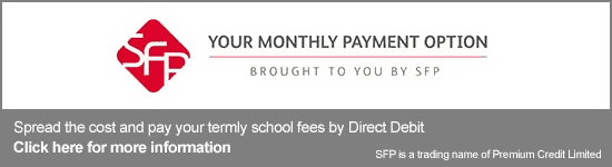 Your monthly payment option brought to you by SFP. Spread the cost and pay your termly school fees by Direct Debit. Click here for more information.